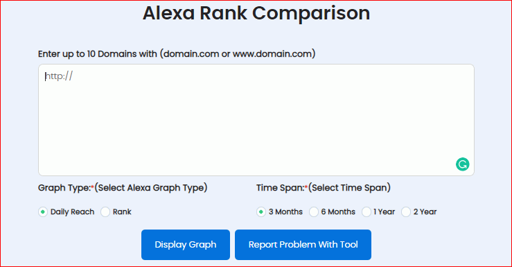 Alexa Rank Comparison