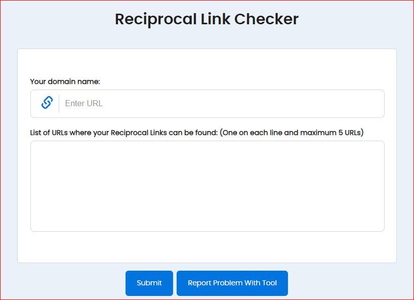 Reciprocal Link Checker