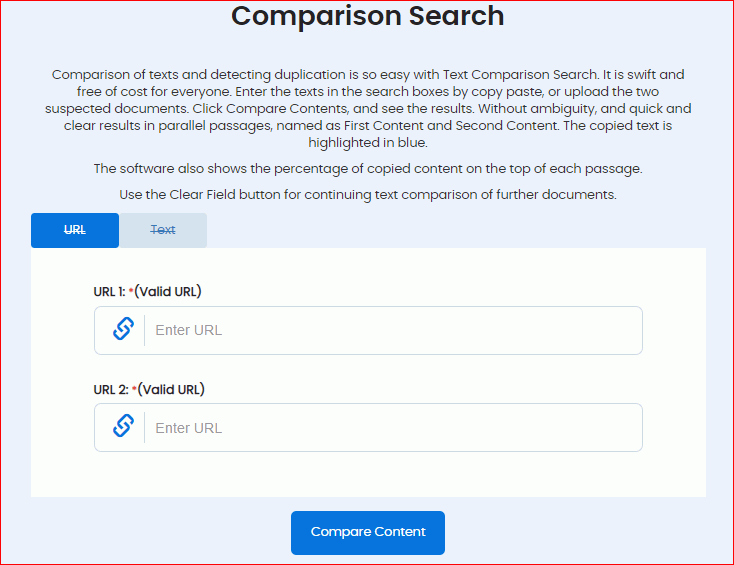 Comparison Search