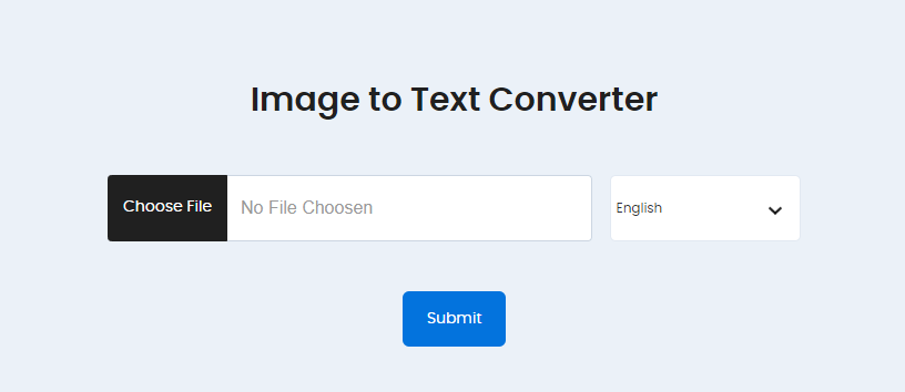 OCR online for Image to text