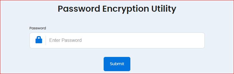Password Encryption Utility