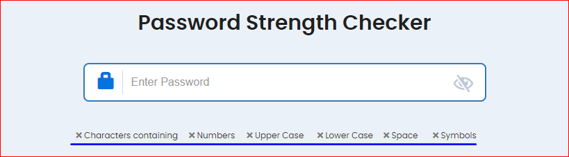 Password Strenght Checker