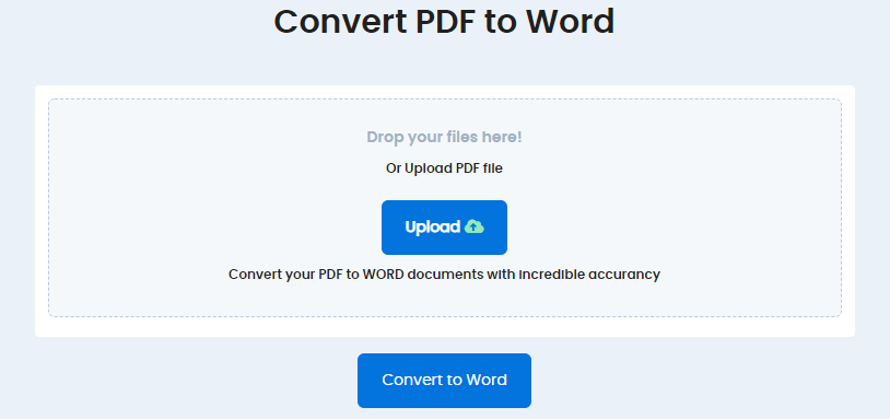 PDF to word | Convert PDF to word, Accurately