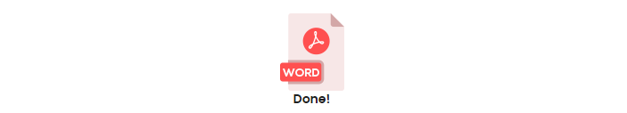PDF to Doc conversion is done!